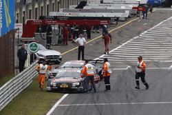 Адриен Тамбэ, Audi Sport Team Rosberg, Audi RS 5 DTM and Maximilian Götz, Mercedes-AMG Team HWA, Mer