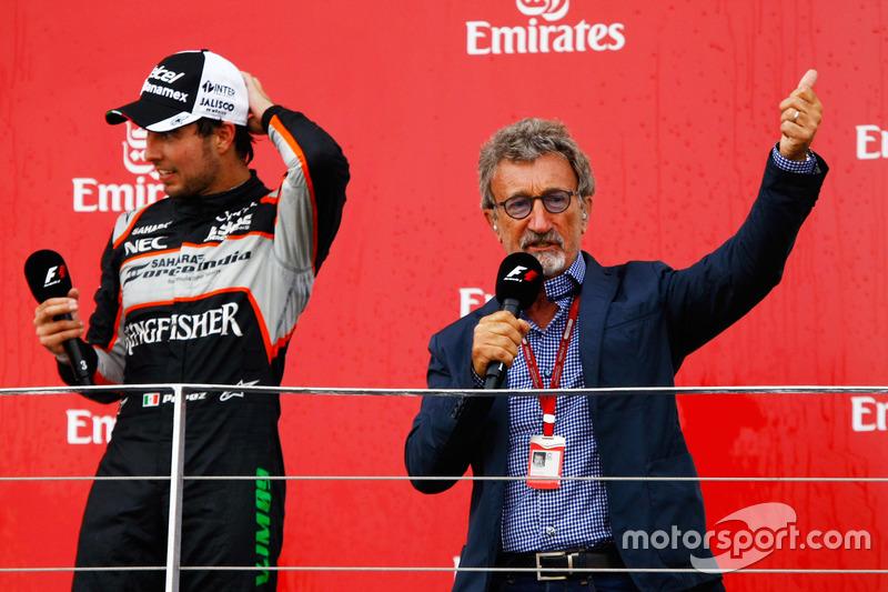 Sergio Pérez, Sahara Force India F1 con Eddie Jordan (IRE)