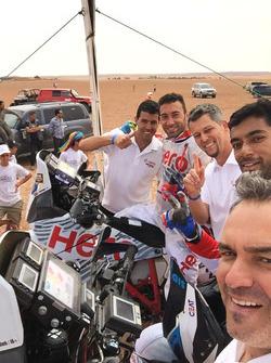 CS Santosh and Joaquim Rodrigues with the Hero MotoSports Team Rally