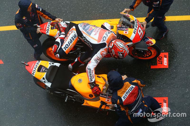 Marc Marquez, Repsol Honda Team in pitlane