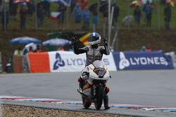 Race winner John McPhee, Peugeot MC Saxoprint