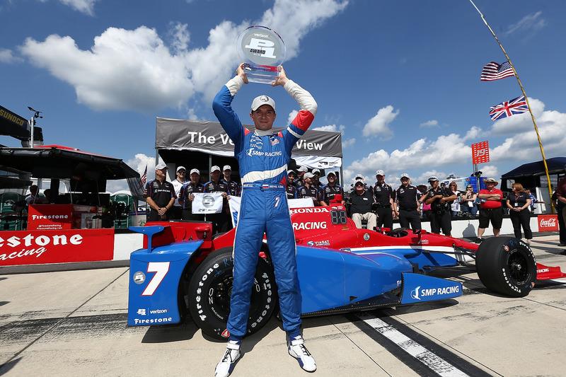 Празднование первого поула в IndyCar