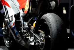 Andrea Iannone, Ducati Team, tyre after the race
