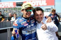 Il vincitore della gara Enea Bastianini, Gresini Racing Team Moto3, Fausto Gresini