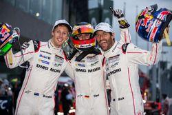 Ganaddores LMP1 #1 Porsche Team Porsche 919 Hybrid: Timo Bernhard, Mark Webber, Brendon Hartley