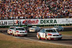 Hans-Joachim Stuck, Audi V8 quattro, por delante de sus compañeros de la marca Audi Frank Jelinski y Walter Röhrl