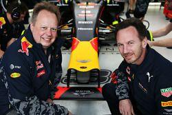 Andy Palmer, CEO d'Aston Martin et le Team Principal de Red Bull Racing, Christian Horner