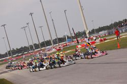 Rotax Junior start led by Michael d'Orlando and Mathias Ramirez