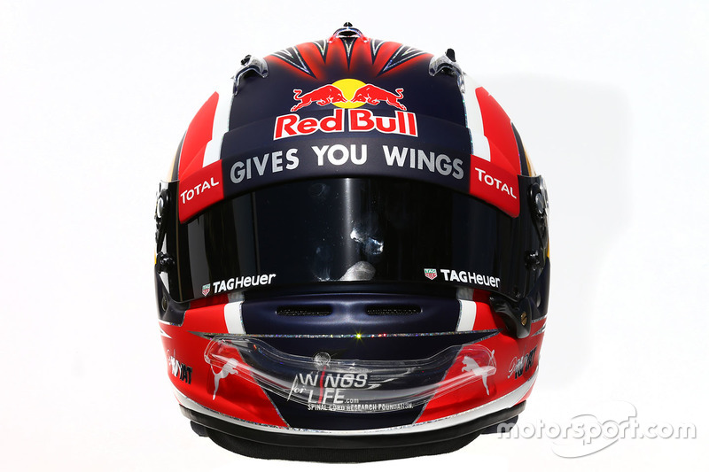 Il casco di Daniil Kvyat, Red Bull Racing