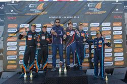 Podium: tweede plaats Duncan Huisman, Luc Braams, V8 Racing International, Chevrolet Camaro GT4; winnaar Romain Monti, Maserati Spa, Maserati GranTurismo MC GT4; derde plaats Jelle Beelen, Marcel Nooren, V8 Racing International Chevrolet Camaro GT4