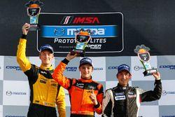 Podium: race winner Austin Versteeg, second place Clark Toppe, third place Michael Whelden