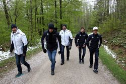 Nico Menzel, Louis Delétraz and Jesse Krohn with Dirk Adorf