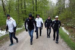 Nico Menzel, Louis Delétraz and Jesse Krohn with Dirk Adorf, BMW Motorsport Junior program Mentor