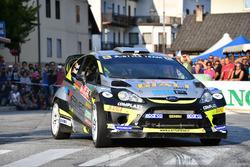 Marco Signor, Patrick Bernardi, Ford Fiesta WRC, Sama Racing al parco assistenza