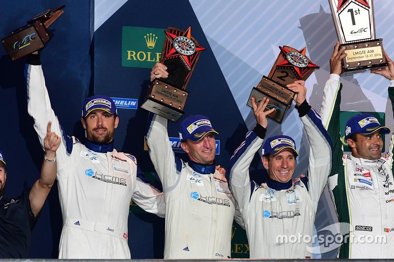 المنصة: المركز الثاني كاي سي إم جي بورشه 911 آرإس آر: كريستيان ريد، وولف هينزلر، جويل كاماثياس