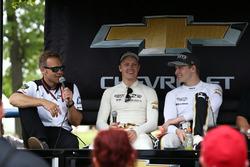 Ed Carpenter, Spencer Pigot, Ed Carpenter Racing Chevrolet, Josef Newgarden, Ed Carpenter Racing Che