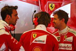 Jean-Eric Vergne, Ferrari piloto de pruebas y de desarrollo y Sebastian Vettel, Ferrari