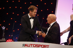 Sebastian Vettel and Sir Stirling Moss, the Autosport Awards