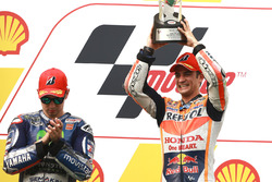 Podium: Race winner Dani Pedrosa, Repsol Honda; second place Jorge Lorenzo, Yamaha