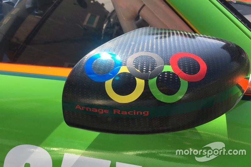 Логотип Олимпийских игр на машине Arnage Racing