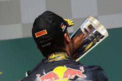 Podium: second place Daniel Ricciardo, Red Bull Racing