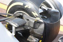 Detalle de conducto de freno Mercedes AMG F1 Team W07
