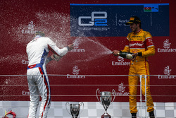 Race winner Antonio Giovinazzi, PREMA Racing & Second place Sergey Sirotkin, ART Grand Prix
