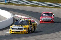 Grant Enfinger, ThorSport Racing Toyota, Austin Wayne Self, AM Racing Toyota