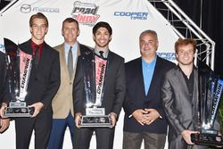 USF2000 champion Oliver Askew, Indy Lights champion Kyle Kaiser, Pro Mazda champion Victor Franzoni, John Doonan