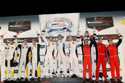 GTLM podium: winners Bill Auberlen, Alexander Sims, Kuno Wittmer, BMW Team RLL, second place Antonio