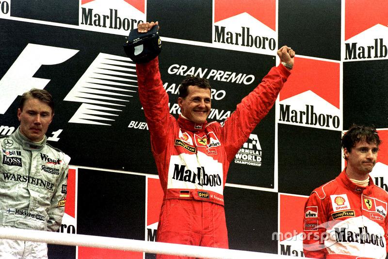 Podyum: 1. Michael Schumacher, Ferrari; 2. Mika Hakkinen, McLaren; 3. Eddie Irvine, Ferrari