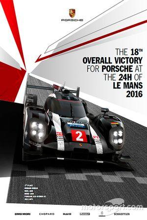 Poster Porsche 24h de Le Mans 2016