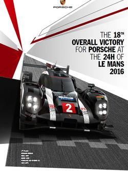 Poster: Porsche-Sieg bei den 24h Le Mans 2016
