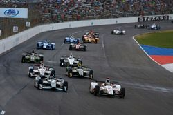 Tristan Vautier, Dale Coyne Racing Honda, Josef Newgarden, Team Penske Chevrolet