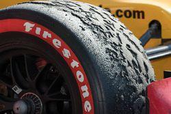 Ryan Hunter-Reay, Andretti Autosport Honda en parc ferme