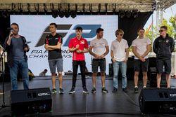 Alexander Albon, ART Grand Prix; Charles Leclerc, PREMA Powerteam; Norman Nato, Pertamina Arden; Joh