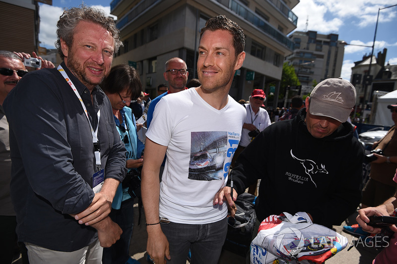Philippe Graton, of Michel Vallant comic book fame, with Julien Canal, Vaillante Rebellion Racing