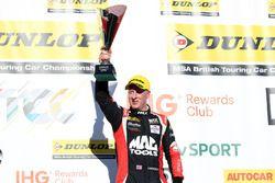 Podium: second place Adam Morgan, Ciceley Motorsport Mercedes Benz A-Class