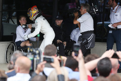 Race winner Lewis Hamilton, Mercedes AMG F1 and Billy Monger