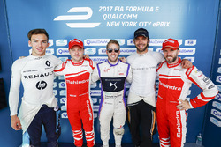 Pierre Gasly, Renault e.Dams, Felix Rosenqvist, Mahindra Racing, Sam Bird, DS Virgin Racing, Jean-Er