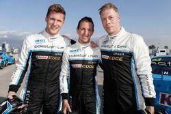 Nicky Catsburg, Thed Björk, Nestor Girolami, Polestar Cyan Racing, Volvo S60 Polestar después de la