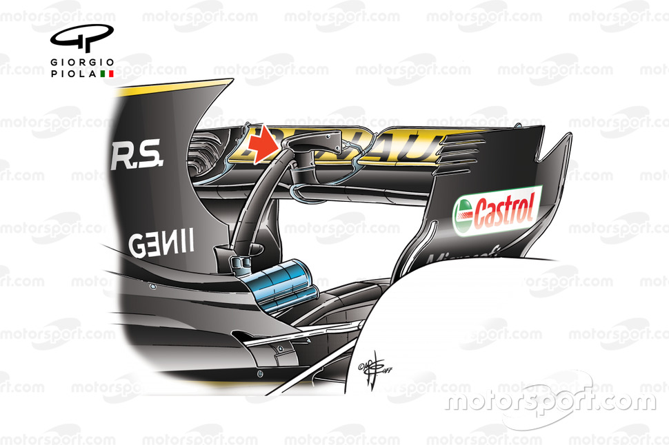 Renault R.S.17 illegal rear wing