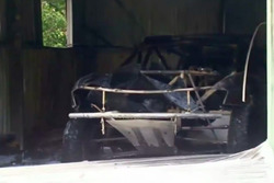 Peter Brock's Dakar car after fire