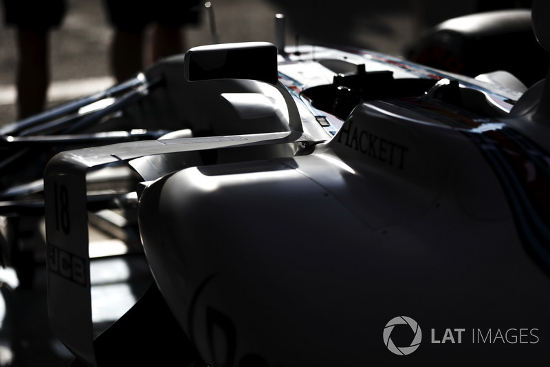 Williams cockpit detail in the team's garage