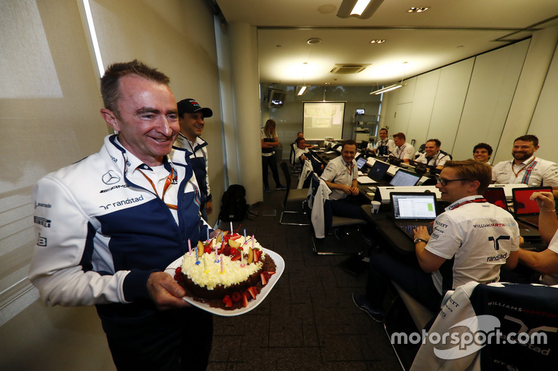 Paddy Lowe, Williams, Technikchef, feiert Geburtstag