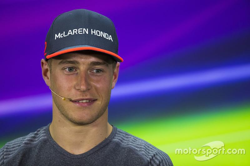 Стоффель Вандорн, McLaren, на прес-конференції