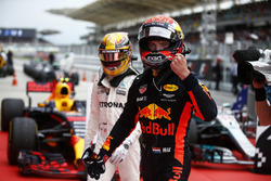 Max Verstappen, Red Bull Racing,celebrating in parc ferme, Lewis Hamilton, Mercedes AMG F1