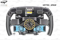 Ferrari SF70H: Lenkrad von Sebastian Vettel