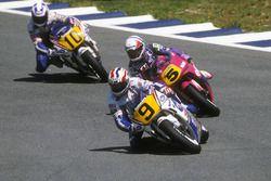 Mick Doohan, Honda; Pierfrancesco Chili, Honda; Wayne Gardner, Honda