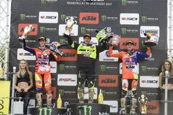 Podio: Jorge Prado, KTM, Jeremy Seewer, Suzuki, Pauls Jonass, KTM